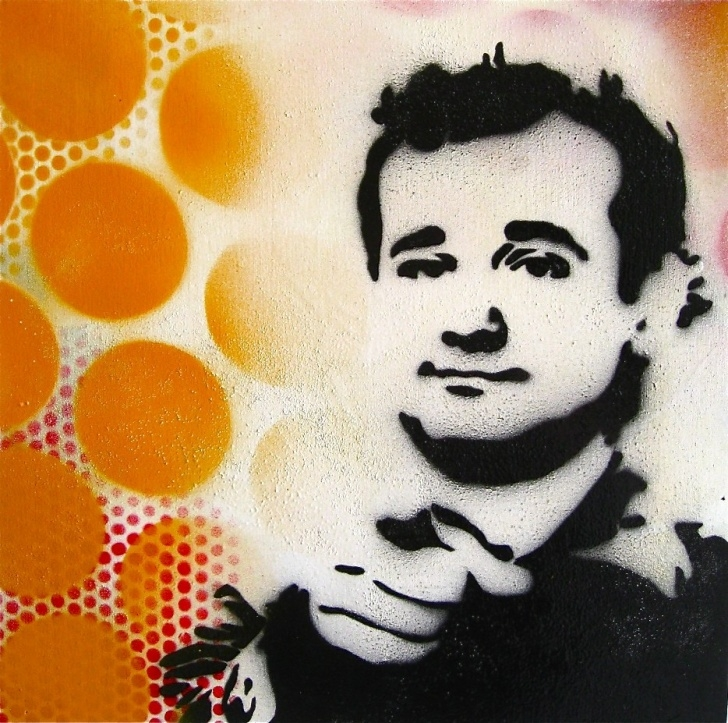 The Complete Bill Murray Stencil Tutorial Bill Murray Bronx Banter Pics
