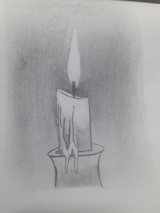 The Complete Candle Pencil Drawing Easy Candle Pencil Drawing At Paintingvalley | Explore Collection Of Picture