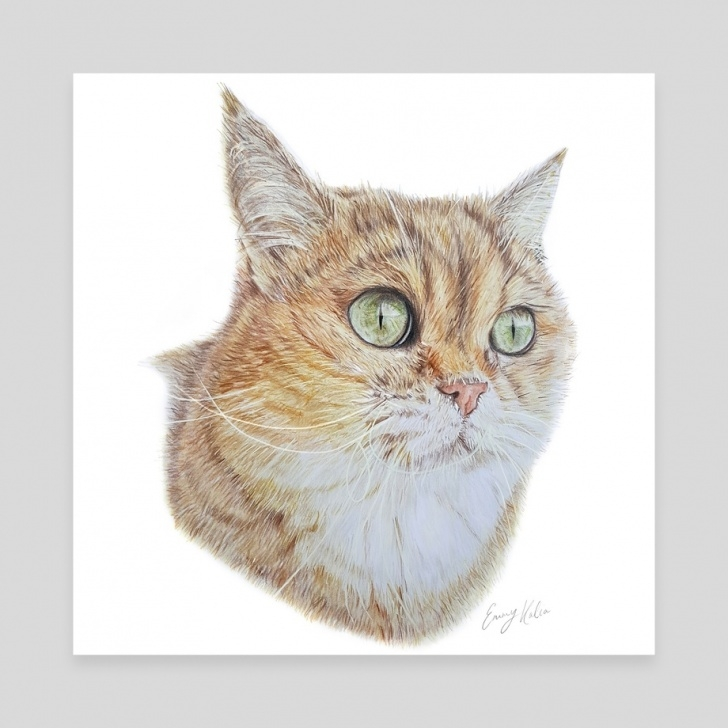 The Complete Cat Pencil Art Tutorial Cat Pencil Drawing, An Art Canvas By Emmy Kalia Image