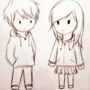 The Complete Cute Couple Sketches Free A Cute Couple Sketches Cute Couple Sketches To Draw Cute Couple Pic