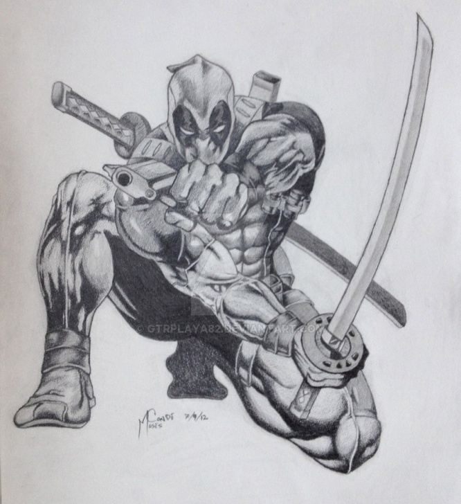 The Complete Deadpool Drawing In Pencil Tutorial Deadpool Drawing At Paintingvalley | Explore Collection Of Image