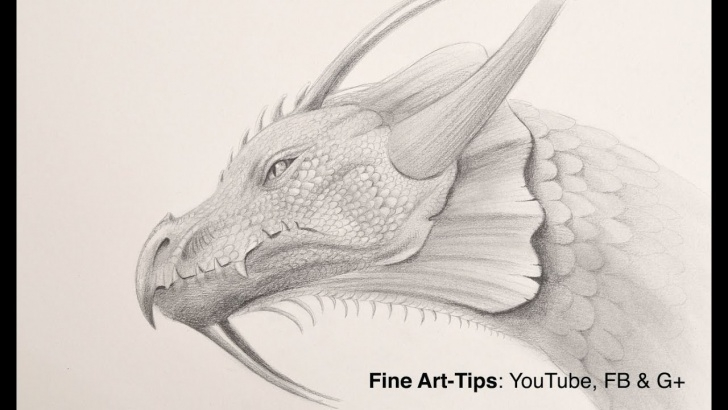 The Complete Dragon Pencil Drawing Techniques How To Draw A Dragon Head With Pencil Image