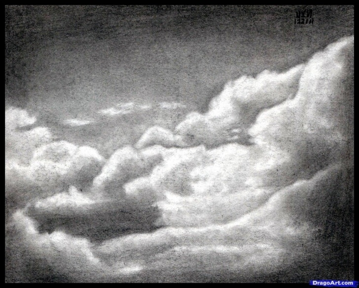 The Complete Drawing Clouds With Pencil Simple How To Draw Realistic Clouds, Draw Clouds Step 10 | Drawing Photo