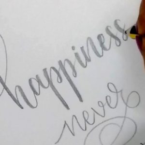 The Complete Easy Calligraphy With Pencil Tutorials How To : Write In Modern Calligraphy With Pencil | Easy Hand Lettering For  Beginners Pic
