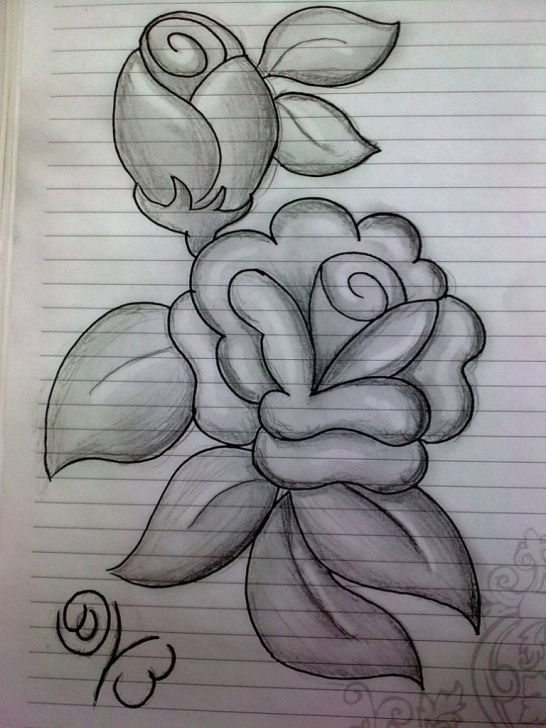 The Complete Flower Design Pencil Drawing Free Pencil Sketch Images Flowers At Paintingvalley | Explore Images