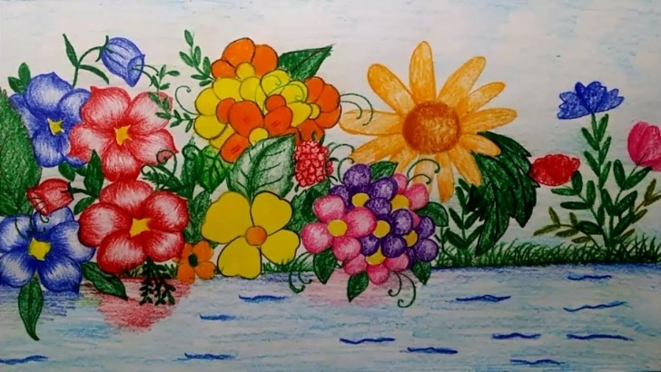 The Complete Flower Garden Drawing Pencil Lessons How To Draw A Flower Garden By Using Watercolour Pencils Photos