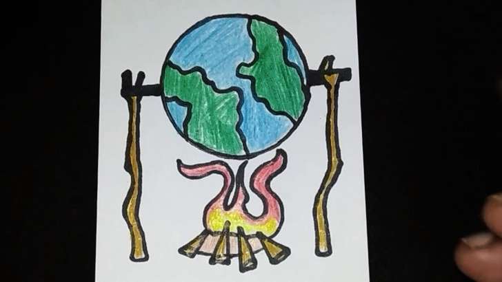 The Complete Global Warming Pencil Drawing Easy Drawing Poster Of Global Warming | Save Earth Drawing | Save Environment  Drawing Pictures