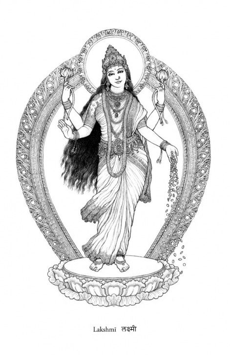 The Complete Goddess Lakshmi Pencil Sketches for Beginners The Goddess Lakshmī Pure Delightful Fecundity | Tattoo In 2019 Pictures