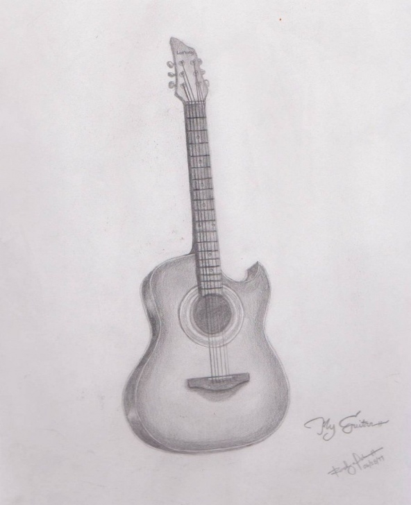 Guitar Pencil Drawing