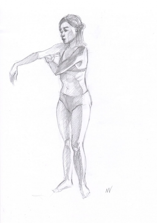 The Complete Human Body Pencil Drawing Easy Sketch Of Human Body. Woman.74 Pictures