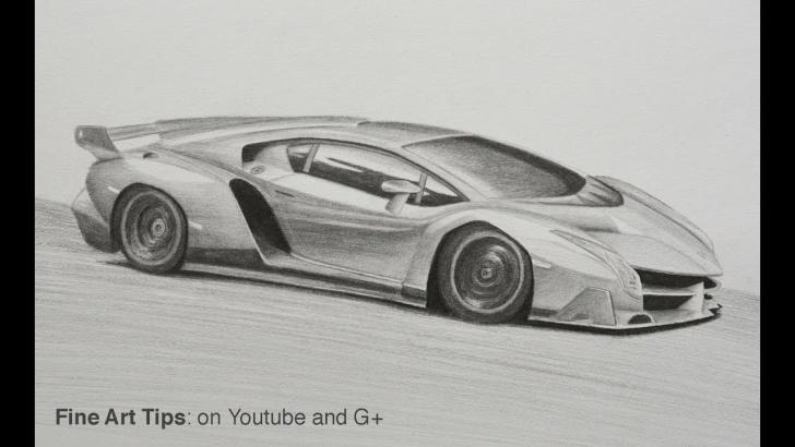 The Complete Lamborghini Pencil Drawing Free How To Draw A Lamborghini Veneno Picture