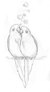 The Complete Love Birds Pencil Sketch Ideas Easy Meaningful Drawings Tumblr - Google Search | Sketch In 2019 Pics