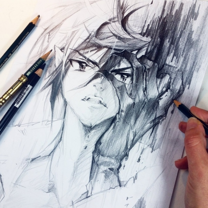 "The Complete Manga Pencil Drawings Ideas ? Nashi @ Japan Expo Paris ? On Twitter: ""new Pencil Drawing Of Photos"