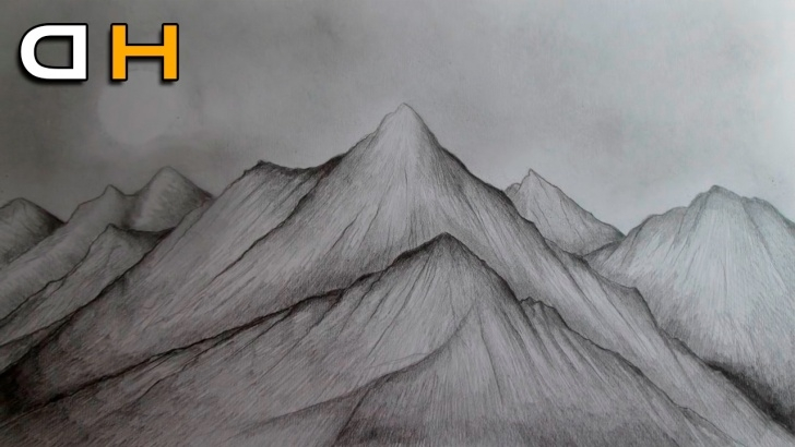 The Complete Mountain Pencil Sketch Techniques for Beginners Mountain Scenery Sketch At Paintingvalley | Explore Collection Pics