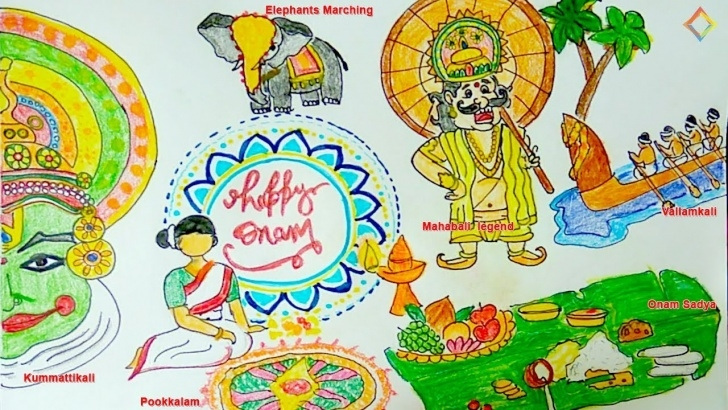 The Complete Onam Pencil Drawings Free Onam Festival Drawing Very Easy Step By Step For Kids - Youtube Pic