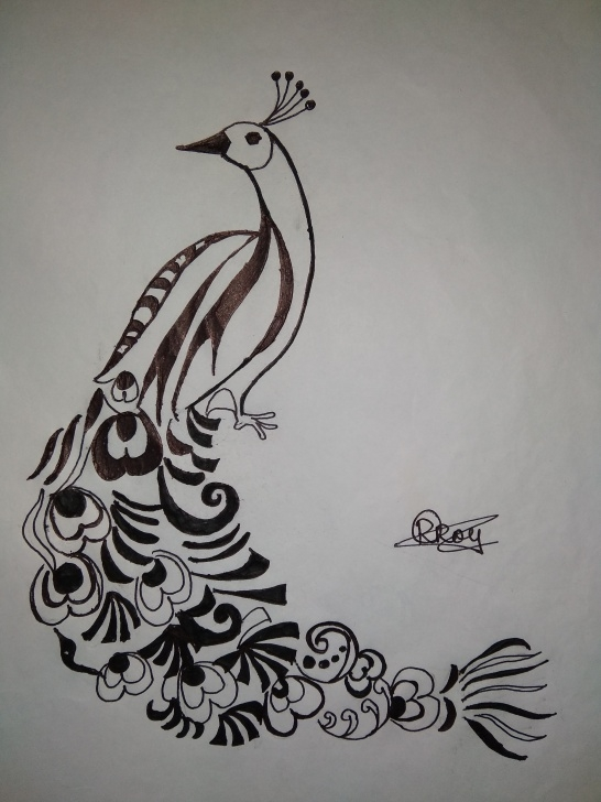 The Complete Peacock Pencil Sketch Ideas Artsketch #peacock #drawings Pencil Drawing Of Peacock · Pencil Photo