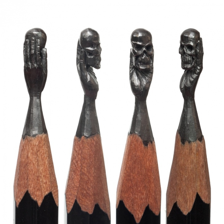 The Complete Pencil Carving Pencils Techniques Delicate Pencil Lead Sculptures Carved By Salavat Fidai | Colossal Pic
