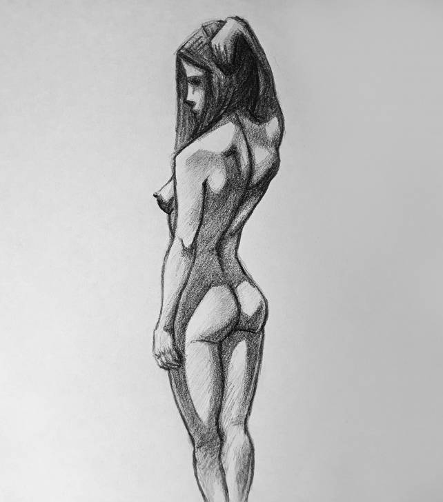 The Complete Pencil Figure Drawing Tutorial Female Figure From Behind Drawing With Pencil : Learnart Photo