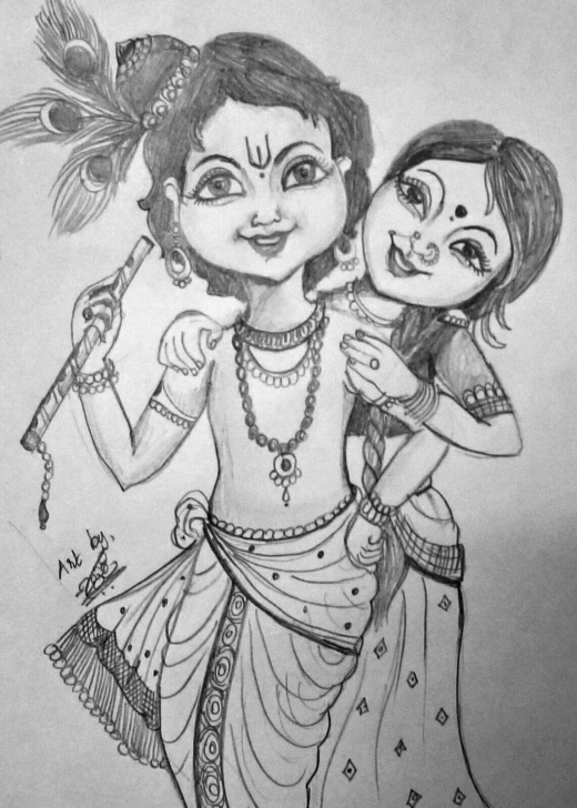 The Complete Pencil Shade Drawing Of Krishna Courses Pin By Sangeetha Kumaravel On Art Journal In 2019 | Art Sketches Images