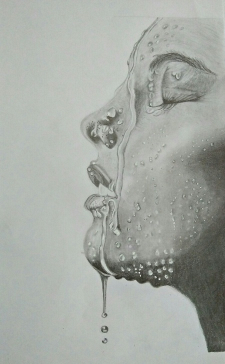 The Complete Pencil Sketch Of A Woman Techniques for Beginners The Strong Woman: Pencil Sketch By Akhila Dev, Fine Art For Sell Pics