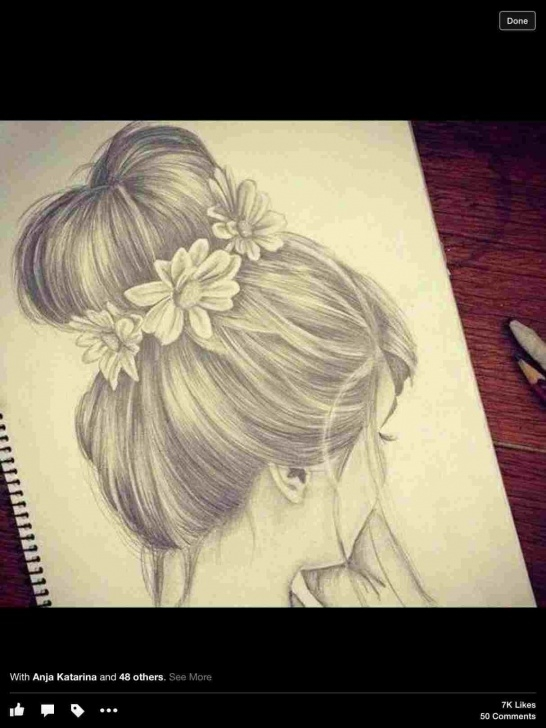 The Complete Pencil Sketch Of Cute Girl Lessons Sketch Easy Cute Girl Drawing Image