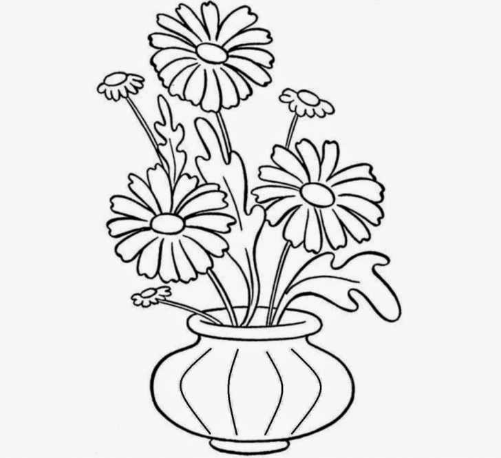 The Complete Pencil Sketch Of Flower Pot Easy Pencil Sketch Flower Pot And Pencil Drawings Of Flower Pots Pencil Pic