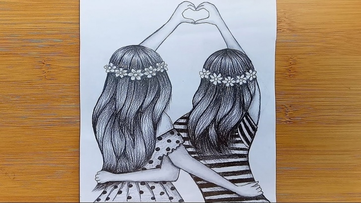 The Complete Pencil Sketch Of Friendship Easy How To Friendship Day Drawing With Pencil Sketch /friendship Day Drawing Images