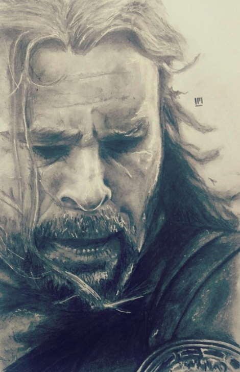 "The Complete Pencil Sketch Of Thor for Beginners Thor! Odinson! "" -Pencil Sketch : Sketches Pics"