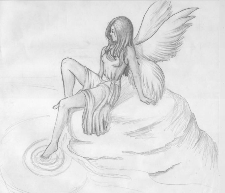 The Complete Pencil Sketches Of Fairies And Angels Lessons Fairies Paintings Search Result At Paintingvalley Photos