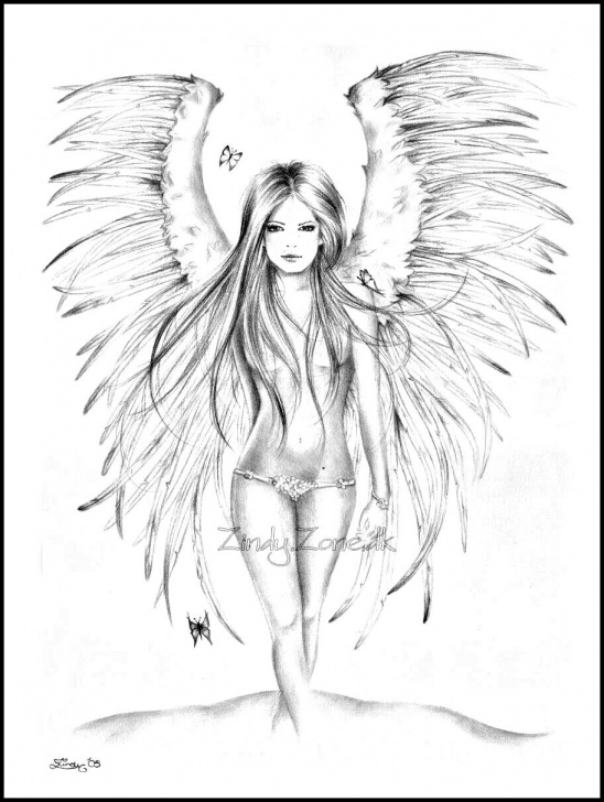 The Complete Pencil Sketches Of Fairies And Angels Lessons Pin By Lauren Semanyk On I <3 Tatts In 2019 | Angel Drawing, Fairy Picture