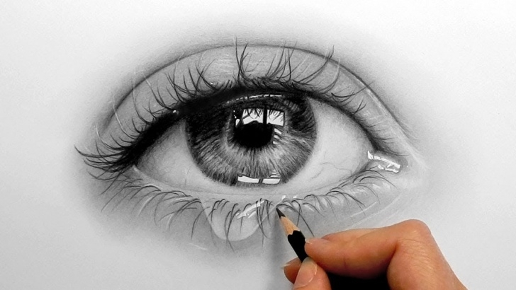 The Complete Realistic Eye Pencil Drawing Courses Timelapse | Drawing, Shading A Realistic Eye And Teardrop With Graphite  Pencils | Emmy Kalia Picture