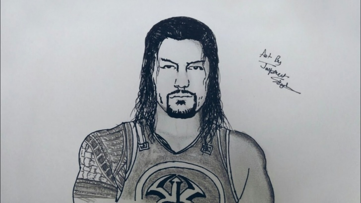 The Complete Roman Reigns Pencil Drawing for Beginners How To Draw Roman Reigns & John Cena | Artist Munda Photos