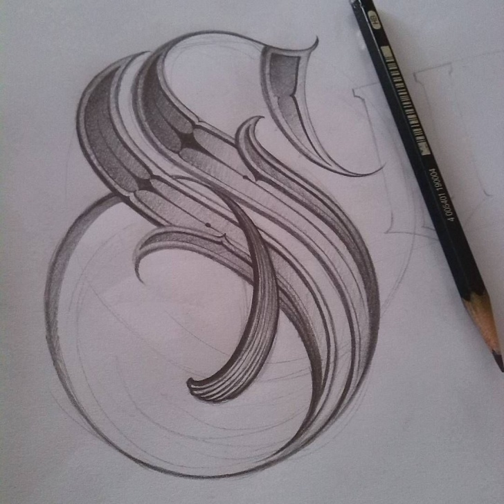 The Complete S Letter Pencil Sketch Tutorials S --- Sketch | Graphics | Tattoo Lettering Fonts, Chicano Lettering Pics