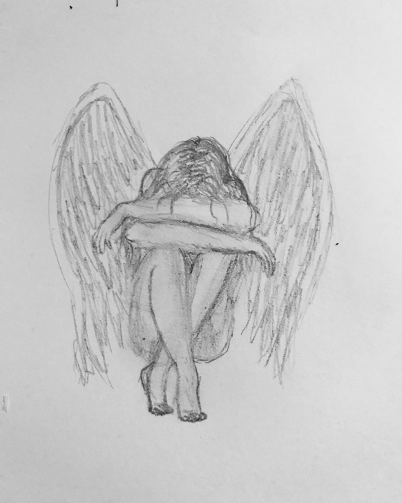 The Complete Sad Drawings In Pencil Easy Sad Angel Drawing With Pencil | Sketchbook Ideas In 2019 | Sad Pic