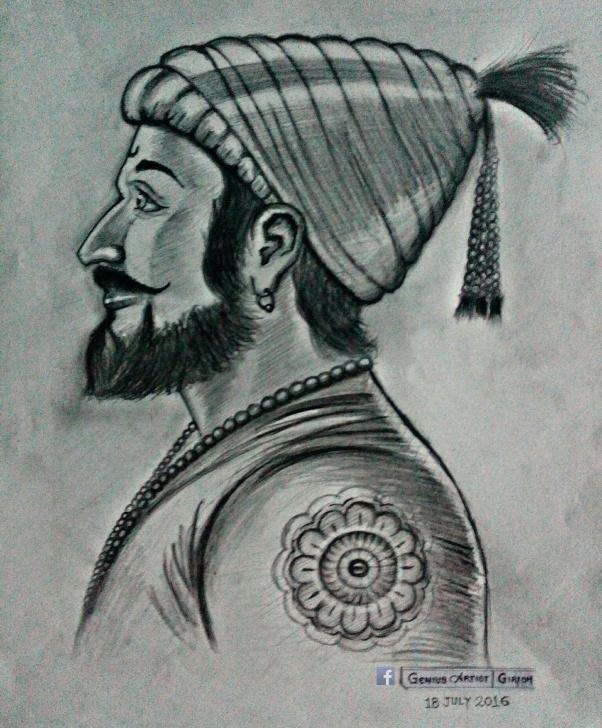 The Complete Shivaji Pencil Sketch Step by Step Shivaji Raje | My Sketch Work In 2019 | Pencil Art Drawings, Art Pic
