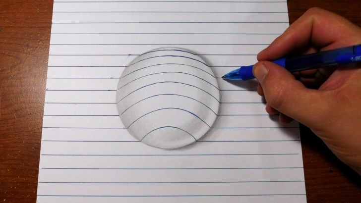 The Complete Simple 3D Drawings On Paper With Pencil Tutorial How To Draw 3D Art - Easy Line Paper Trick Pics