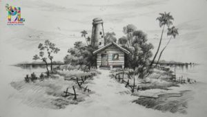 The Complete Simple Pencil Shading Simple Learn Easy & Simple Shading A Landscape With Pencil   Landscape Pencil Art Photos