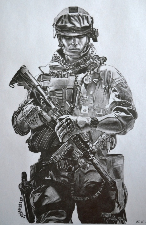 The Complete Soldier Pencil Drawing Step by Step Battle Field 3 | Wood Burning Projects And Designs | Army Tattoos Picture