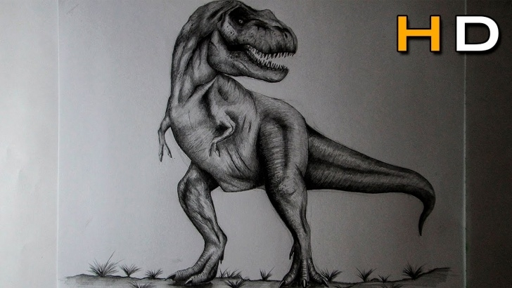 The Complete T Rex Pencil Drawing Techniques for Beginners How To Draw A T Rex With Pencil Step By Step - Drawing Realistic Dinosaur Picture