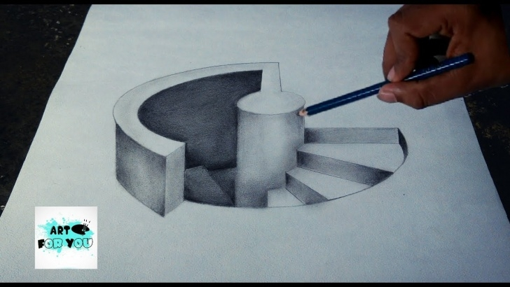 The Most Famous 3D Pencil Sketch Simple 3D Pencil Sketch At Paintingvalley | Explore Collection Of 3D Picture