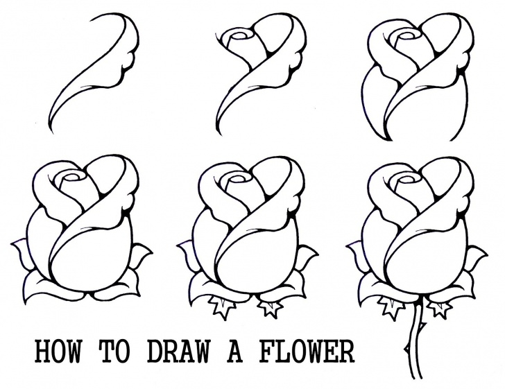 The Most Famous 3D Rose Pensil Sketch Step By Step Ideas How To Draw A Rosebud | Cookie & Cake Decorating Tutorials Images