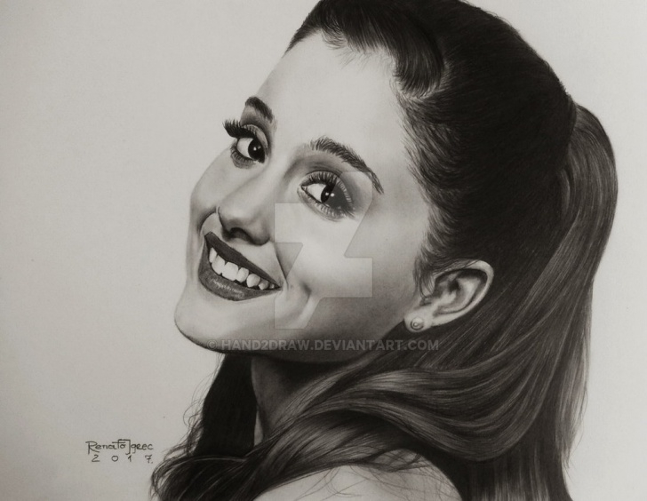 The Most Famous Ariana Grande Pencil Drawing Lessons Ariana Grande - Graphite Pencils Drawing By Hand2Draw On Deviantart Pic