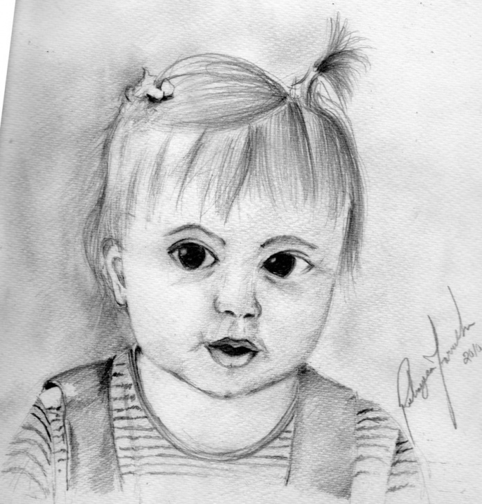 The Most Famous Baby Girl Pencil Drawing Ideas Baby Girl Sketch At Paintingvalley | Explore Collection Of Baby Images