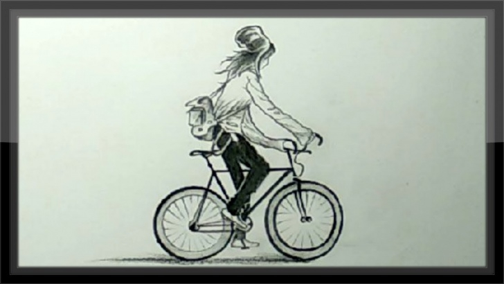The Most Famous Bicycle Pencil Drawing Courses Diy Arts And Crafts Pencil Drawing A Girl In A Bicycle Image