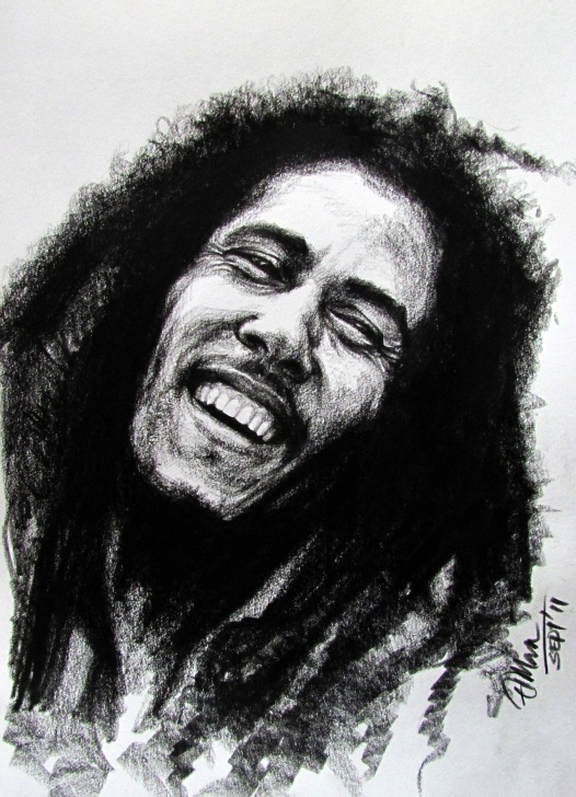 The Most Famous Bob Marley Pencil Sketch Simple Drawings Of People Crying | Bob Marley - Pencil Jammers | Mia's Pics