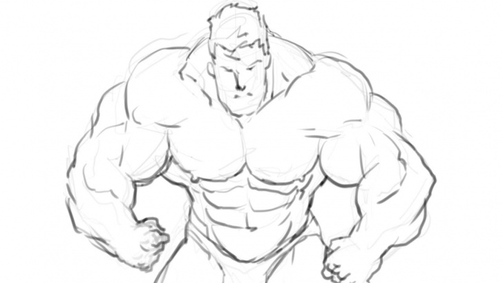 The Most Famous Bodybuilder Pencil Sketch Courses How I Draw A Bodybuilder Manga Style Part 1 (Pencil) Photo