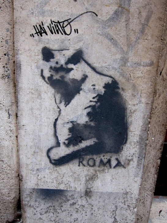 The Most Famous Cat Graffiti Stencil Tutorial Stencil Via Leoncino - Rome Street Art 000 Cat. | Rome Street Art Pictures