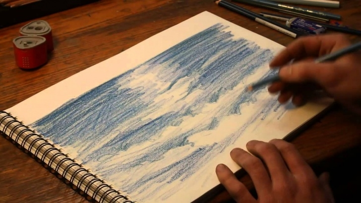 The Most Famous Colored Pencil Water Free Free Tutorials On How To Draw Water With Prismacolor Pencil Photos