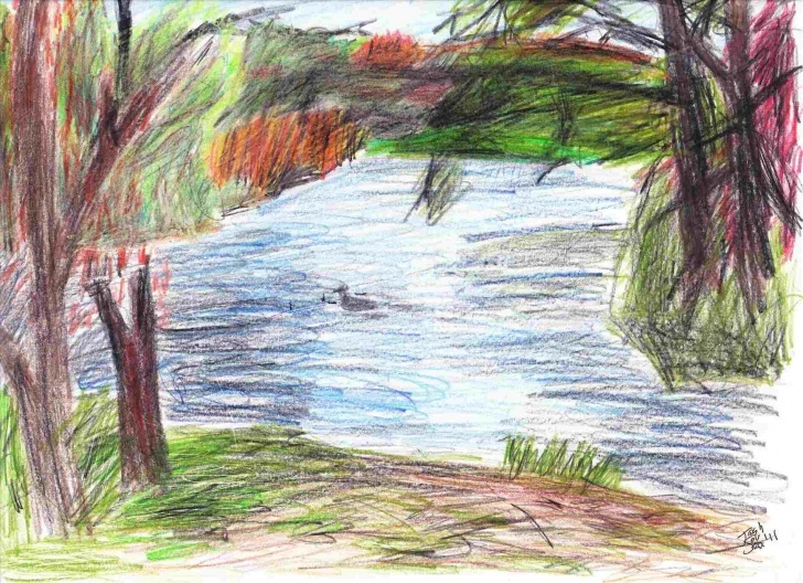 The Most Famous Colour Pencil Drawing Landscape Free Color Pencil Drawings Landscape Easy | Drawing Work Picture