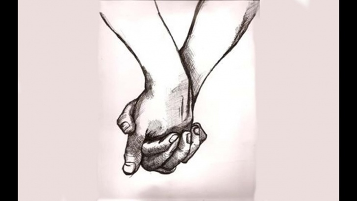 The Most Famous Cute Couple Pencil Drawing Tutorial Shrishti Arts | Cute Couples Holding Hand Pencil Sketch ( Fine Art ) Image